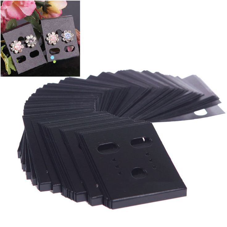 Cheap earring store, Buy Quality earring card display rack directly from China card shelf Suppliers: 100Pcs Earring Ear Studs Organizer Holder Black Plastic Jewelry Display Rack Custom Printed Earring Cards #55016