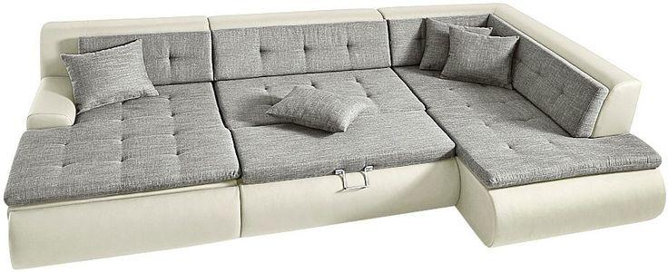 the 25 best wohnlandschaft mit schlaffunktion ideas on pinterest ledercouch schwarze couch. Black Bedroom Furniture Sets. Home Design Ideas