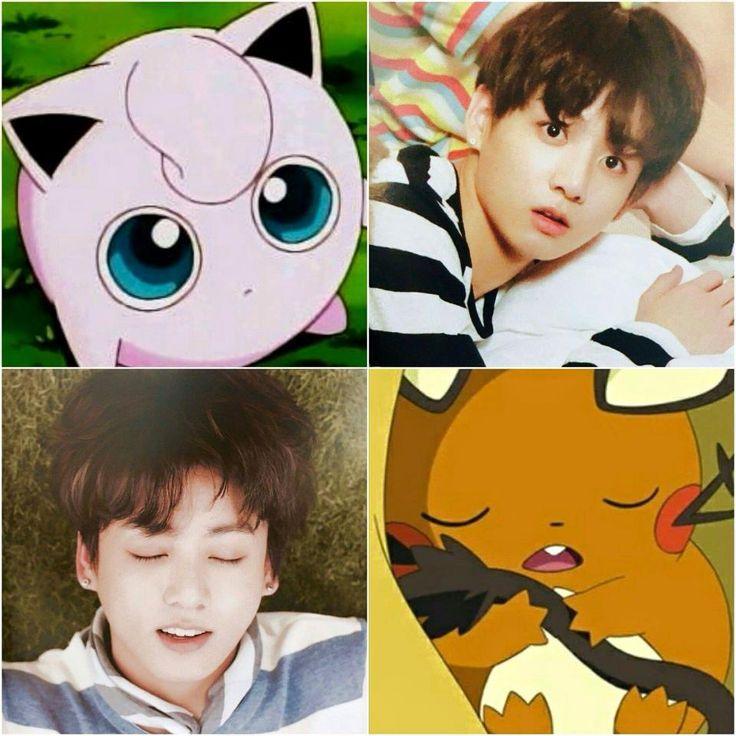 Omg Yas Girl U Right Kookie Be Looking Like A Pokemon So Cute♡ Bts Pinterest