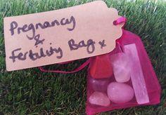 Pregnancy IVF and Fertility Crystal Tumblestone by jillyscrystals