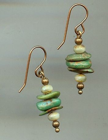 Stacked Stones Earrings #seaglassearringsideas