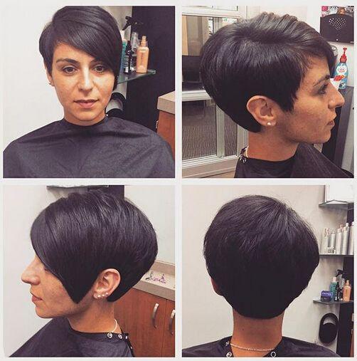 Formal kurze Haarschnitte mit Herz-Gesichts-Form