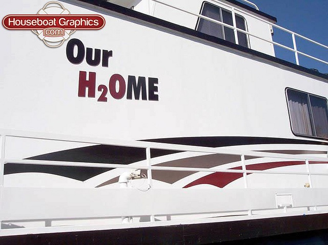 Best Striping Decals For Your Boat Or Houseboat Images On - Custom houseboat vinyl names
