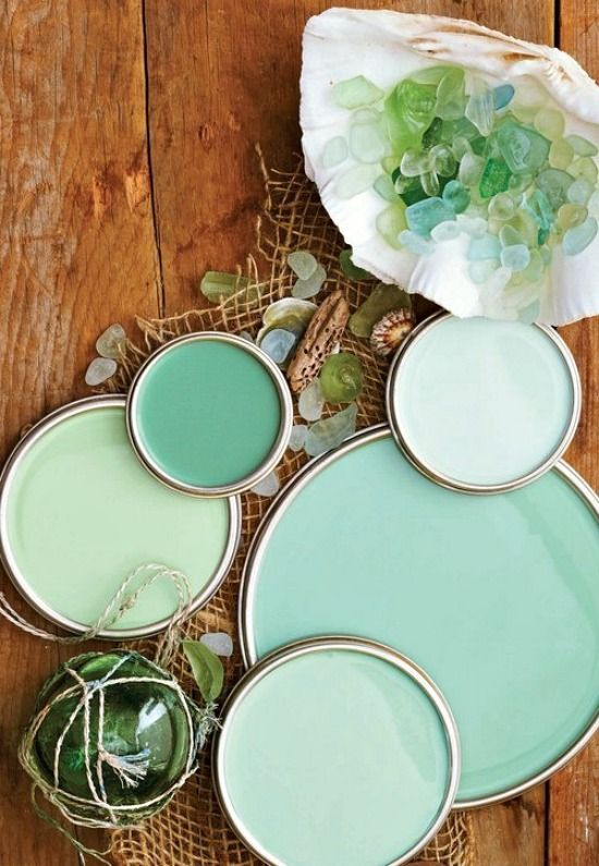 Get your paint color palette from nature!  Scheme: http://beachblissliving.com/paint-color-schemes-ideas/