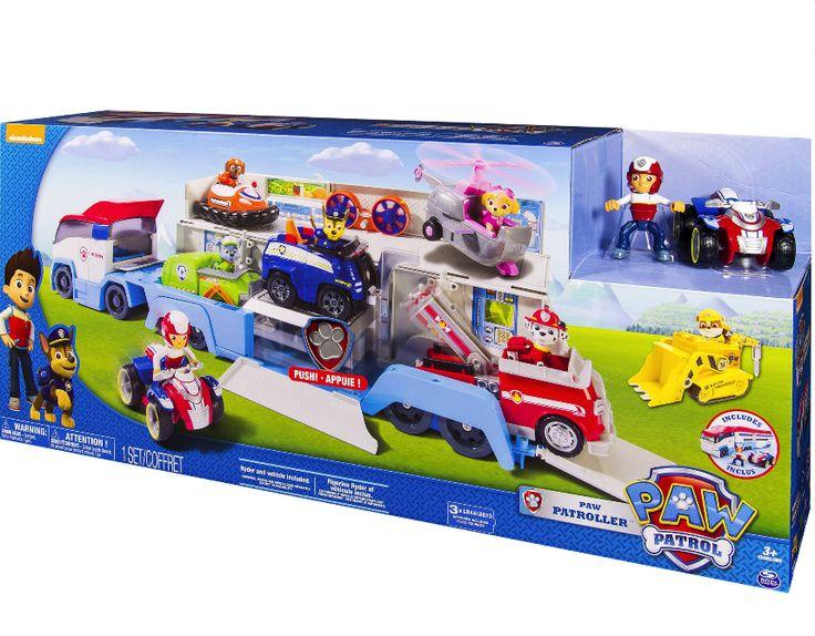 Paw Patrol / Patroller Transporter Truck Hauler includes Ryder Playset Xmas Gift