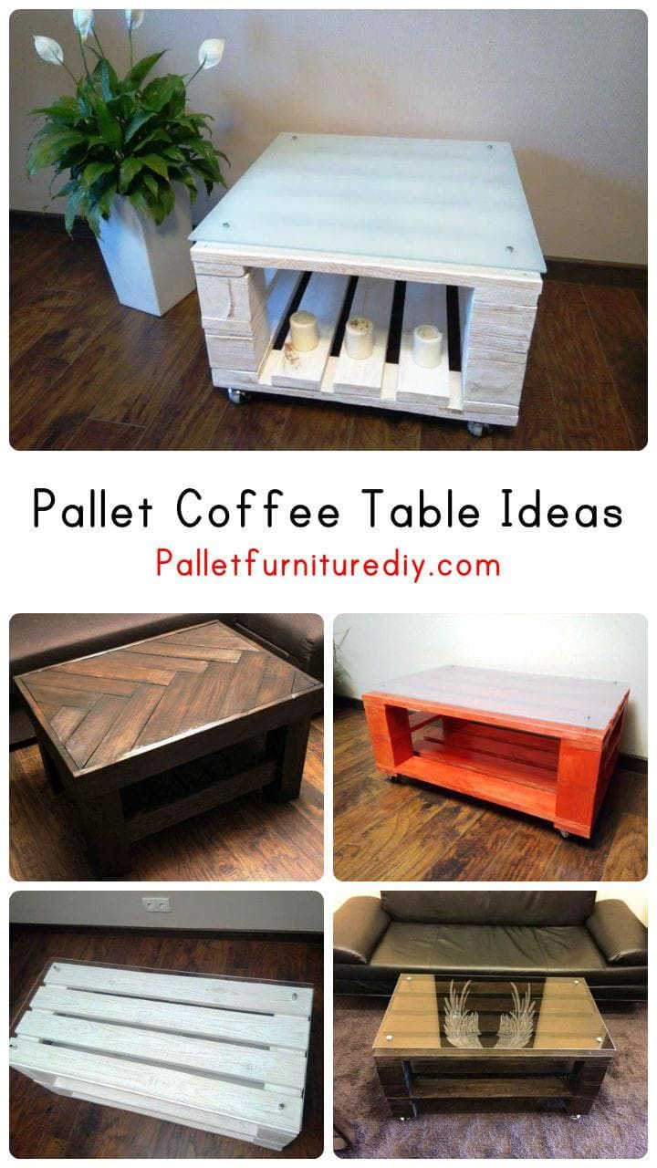 Upcycled Pallet Coffee Table Ideas Pallet Furniture Diy