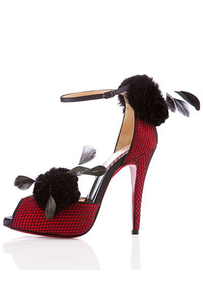 Christian Louboutin in red and black