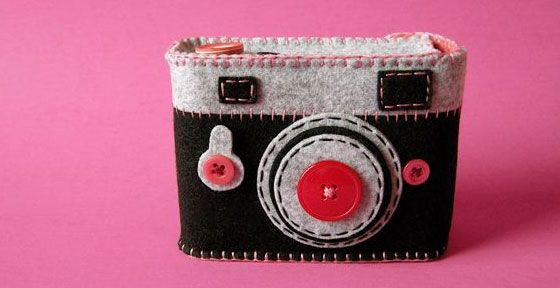 Cute handmade camera and iphone cases