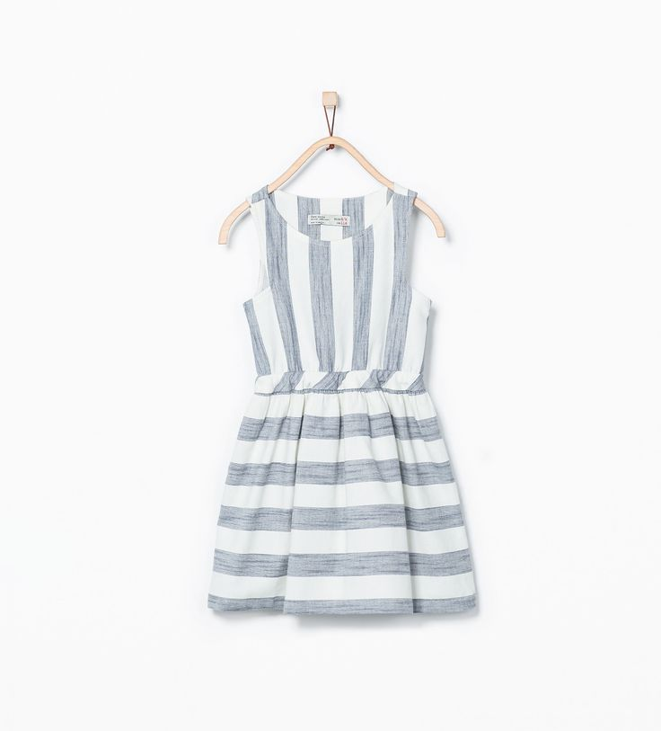 Image 1 of Striped dress with back detail from Zara