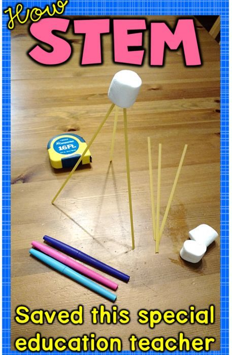 How STEM saved this special education teacher - love her story and the spaghetti tower STEM project!