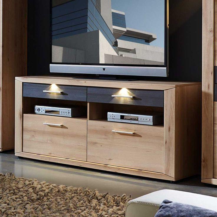 TV Tisch In Buche Grau LED Beleuchtung Jetzt Bestellen Unter Moebel