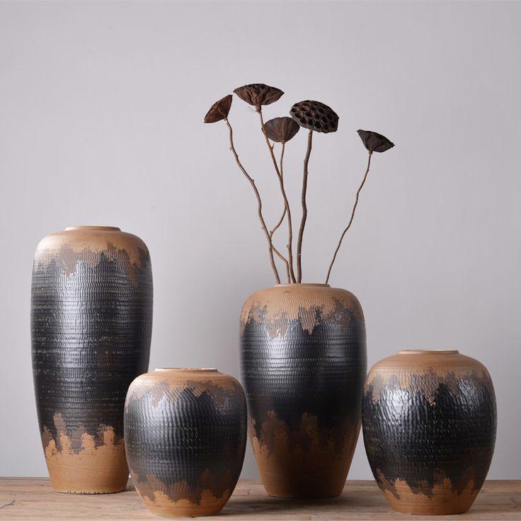 欧式创意花瓶陶罐陶瓷落地花瓶客厅家居软装饰品花器花艺插花摆件-淘宝网