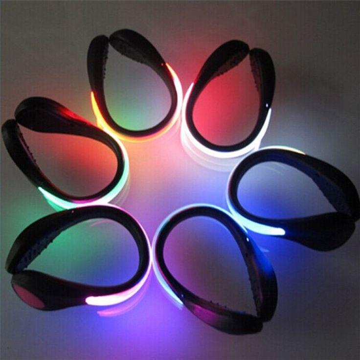 2 Шт. СВЕТОДИОДНЫЕ Светящиеся Обуви Свет Клип Ночь Безопасности Предупреждение LED яркая Вспышка Света для Бега Спорт Велоспорт Обувь Велосипедов LED Клип #men, #hats, #watches, #belts, #fashion, #style