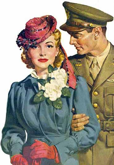 WWII couple - Frank Bensing