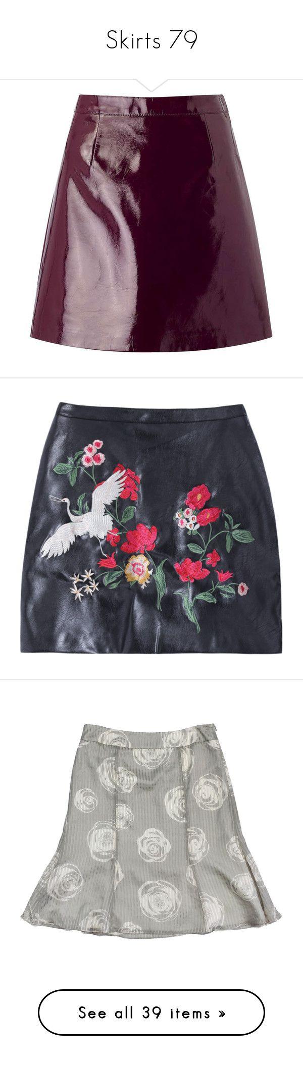 """""""Skirts 79"""" by katiemarilexa ❤ liked on Polyvore featuring skirts, purple, pu skirt, patent skirt, patent leather skirt, purple skirt, miss selfridge, mini skirts, pleather skirt and leatherette skirt"""