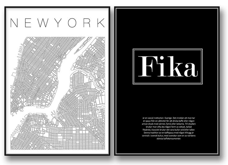 "Guide to NewYork poster & canvastavla    ""The Swedish Tradition - Fika"" poster / tavla / prints"