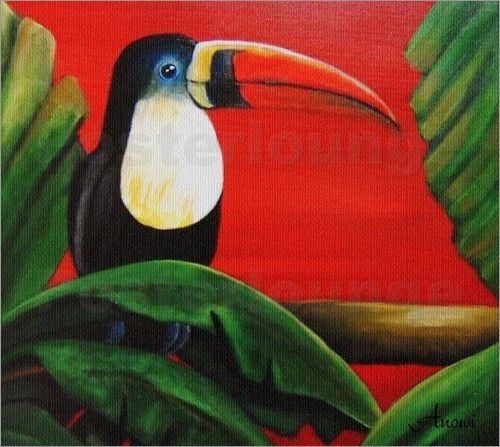 Poster / Leinwandbild Tukan - exotische Vogel - ANOWI