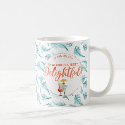 Tropical Holidays Christmas in the Tropics Photo Coffee Mug - Xmas ChristmasEve Christmas Eve Christmas merry xmas family kids gifts holidays Santa
