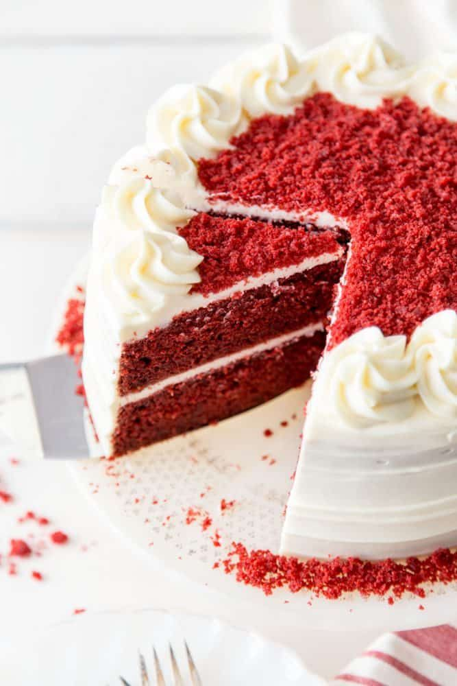 Red Velvet Cake Recipe Is A Classic Must Have In Your Dessert Arsenal The Super Moist And Slightly Chocolaty C In 2020 Velvet Cake Recipes Red Velvet Cake Recipe Cake