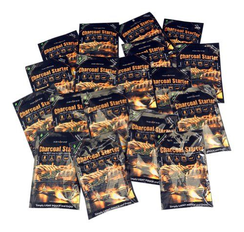 InstaFire Charcoal Briquette Firestarter Pouches for Grills, Smokers, More - Chemical Free - 18 Pk.