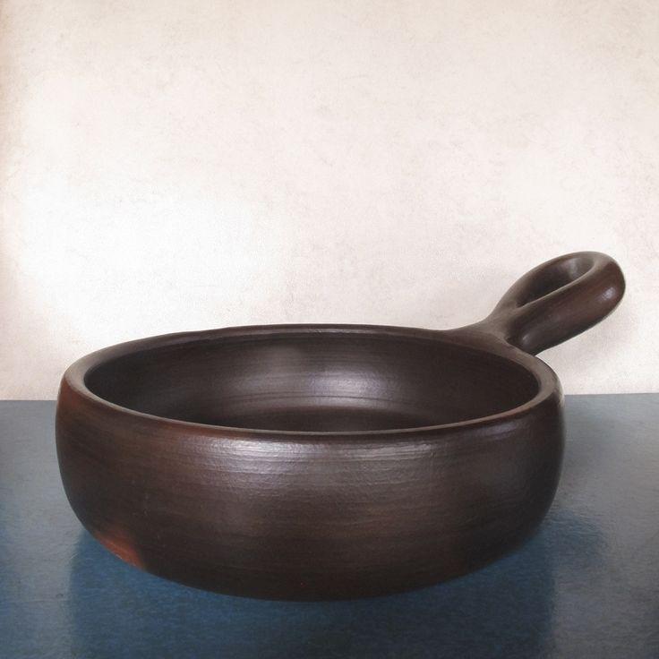 Sartén, greda de Pomaire. Chilecaray