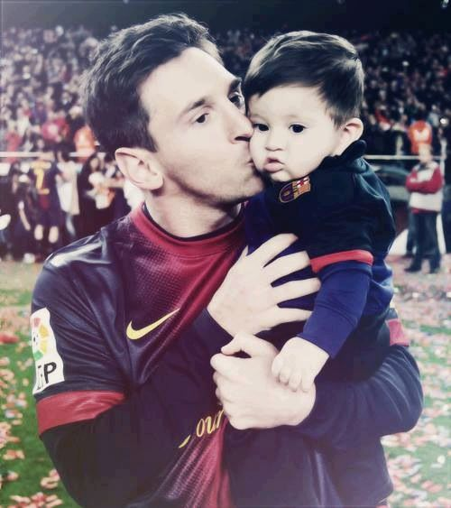 Leo and Thiago Messi