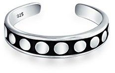 Bling Jewelry 925 Sterling Silver Dot Mid Finger Ring Bali Style Toe Rings.