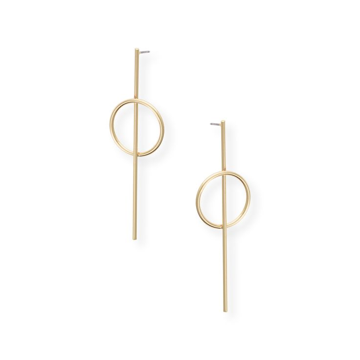Buy the Mies Long Circle & Drop Stud Earrings at Oliver Bonas. Enjoy free worldwide standard delivery for orders over £50.