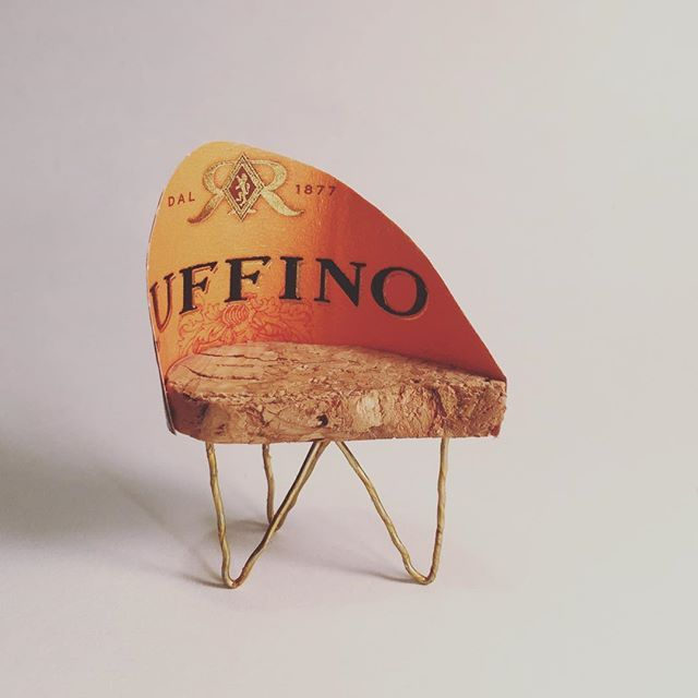 2016 A drop of champagne: a chair for one. #dwrchampagnechair #ruffino #prosecco #orange #modern #design #classic #cork #chair
