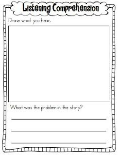 Printables Auditory Comprehension Worksheets 1000 images about slp auditory comprehension freebies on listening recording sheets freebie