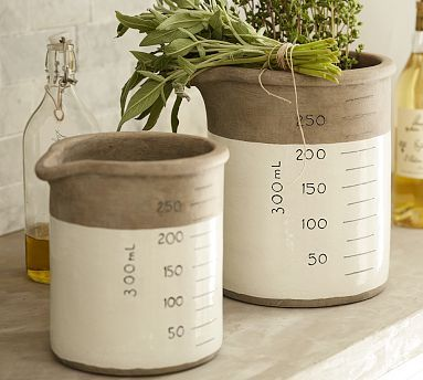 Metric Ceramic Crocks #potterybarn  (use in kitchen for coffee and filters)