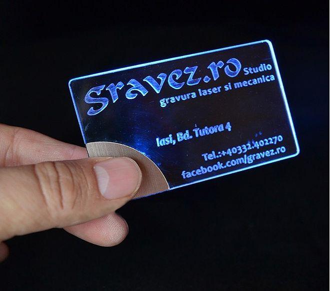 Transparent LED-Lit Business Card by Gravez Dotro  www.ultraupdates.com