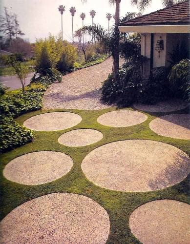 Life In The So Called Space Age: Mid Century Yards And Patios. Pinned · Round  PaversRound Stepping StonesOutdoor ...