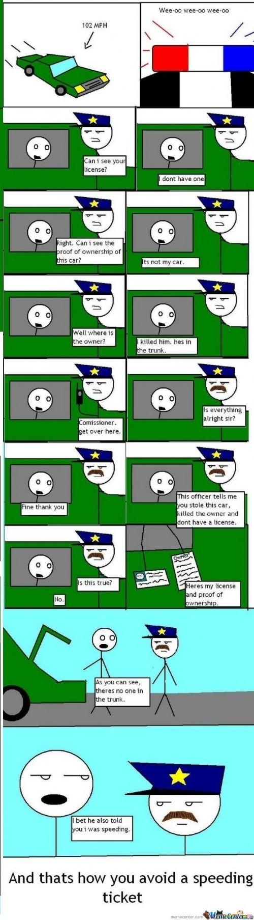 how to avoid speeding ticket     #Meme #FunnyMeme