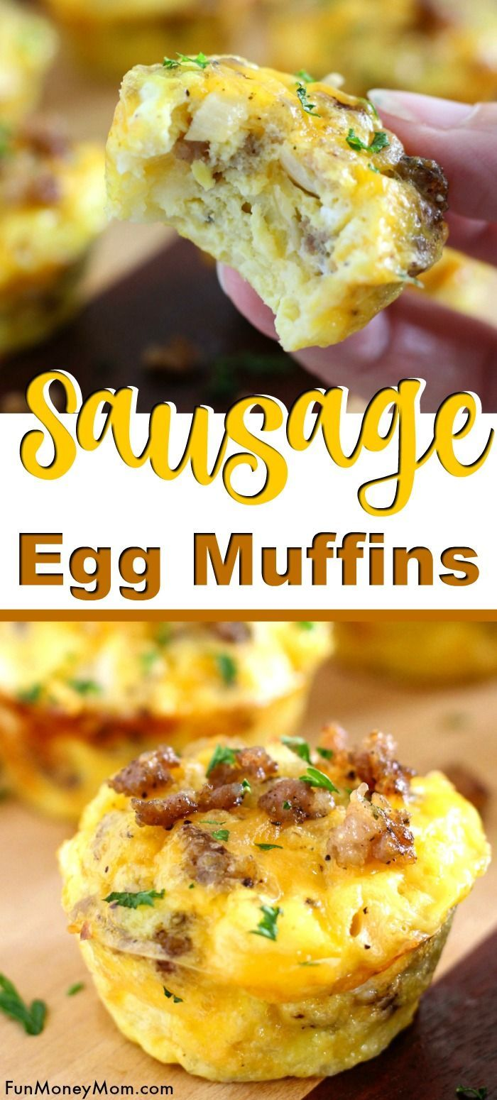 Egg Muffins With Sausage Cheddar And Onion