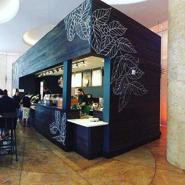 "Starbucks Design "" the black box"" 100 Montgomery St. #cafe #hospitalitydesign #starbucks"