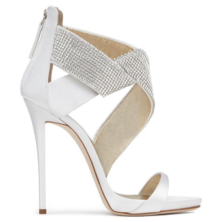 GIUSEPPE ZANOTTI ELLA - White. #giuseppezanotti #shoes # #giuseppezanottiheelsblack #giuseppezanottiheelswhite