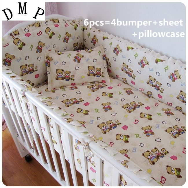 42.80$  Buy now - http://alipjl.shopchina.info/1/go.php?t=32380623443 - Promotion! 6PCS baby sheet,custom baby care bedding set (bumpers+sheet+pillow cover)  #shopstyle