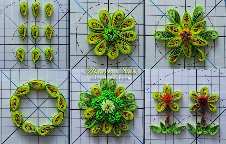 Playing with teardrop shapes ... #AlbertaNeal (@AlbertaNeal) | Twitter #quilling