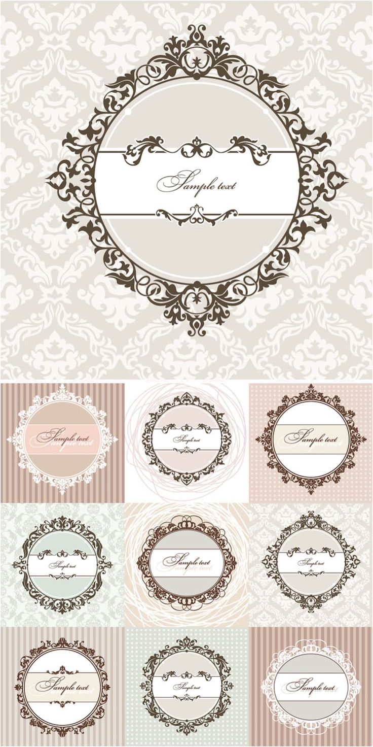 Free+Vector+Clip+Art+Collections | Floral round vintage frames vector | Vector Graphics Blog