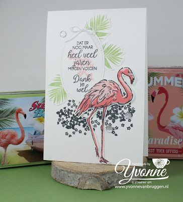 Yvonne is Stampin '& Scrapping: Stampin' Up! Fabulous Flamingo #stampinup #yvonnevanbruggen