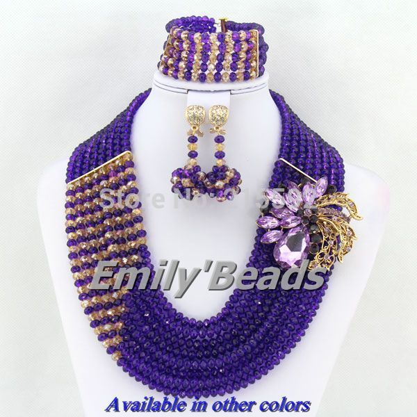 Find More Jewelry Sets Information about Nigerian Wedding African Crystal Beads Bridal Necklaces Jewelry Sets 8 Rows African Costume Jewelry Set Free Shipping AEJ013,High Quality necklace blue,China necklace wire Suppliers, Cheap necklace cz from Emily's Jewelry DIY Store on Aliexpress.com