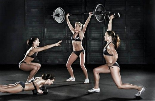 Five typical Crossfit exercises Nikki engages in to stay in shape.