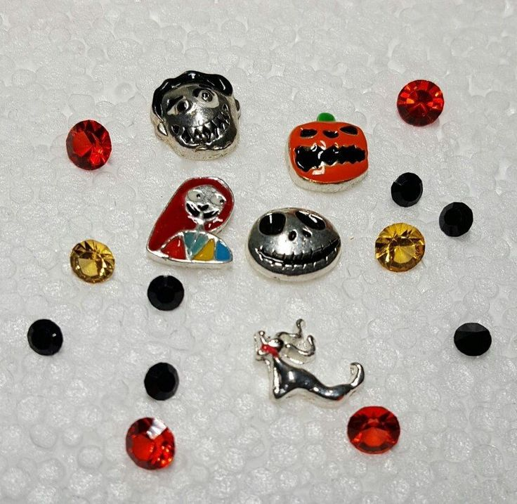 Nightmare Before Christmas Floating Memory Charms for Living Lockets Birthstones #Unbranded