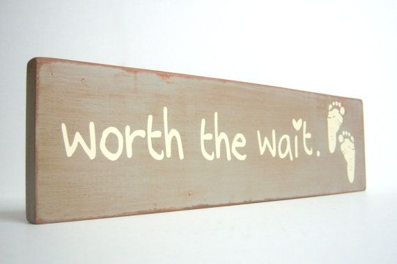 Worth the Wait. Nursery Decor. Baby Gift. Wall by bubblewrappd, $24.00