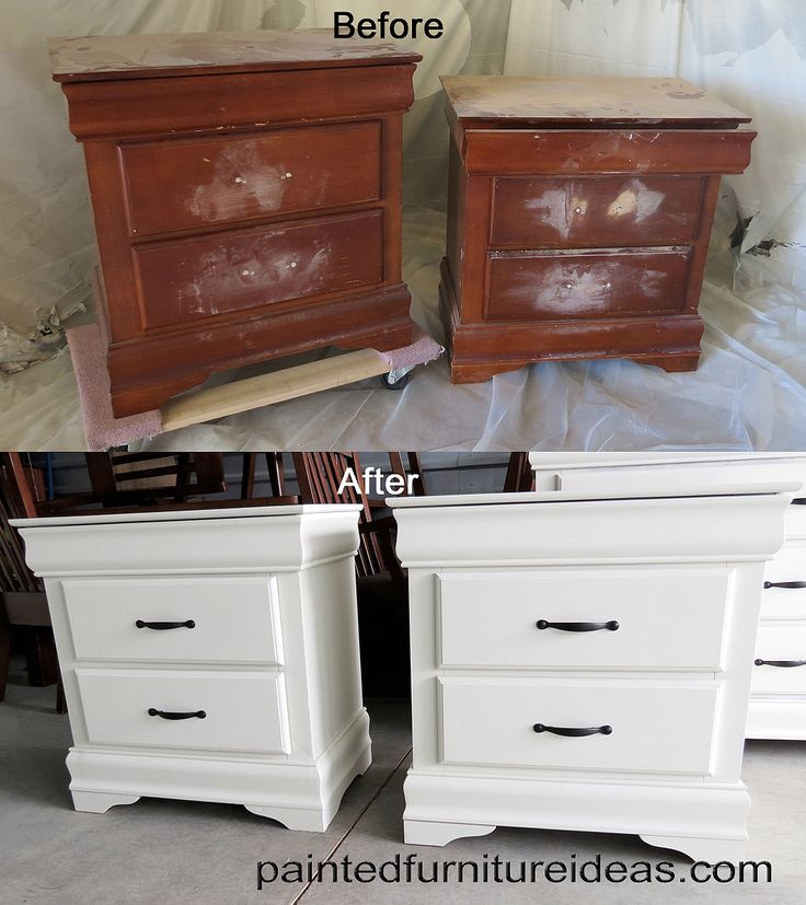 8 Drawer Dresser Makeover. Painting Furniture WhitePaint Wood ...