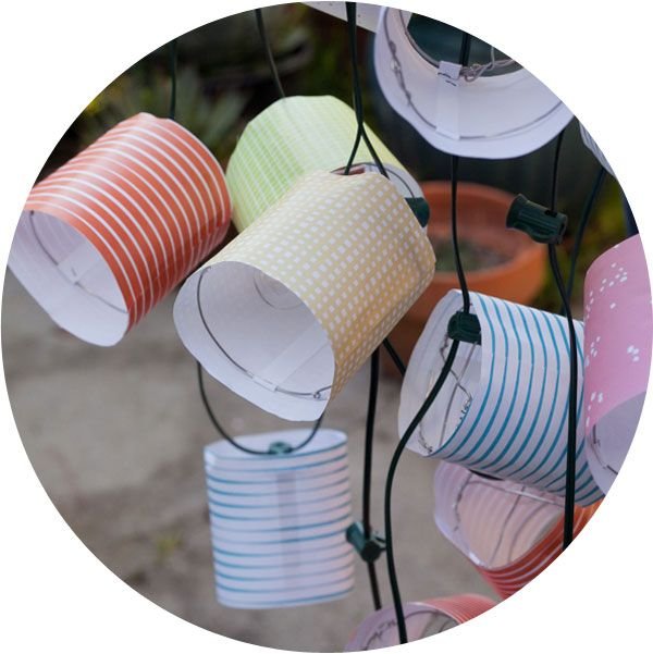 DIY paper party lanterns will make your next outdoor party glow (from Oh Happy Day)