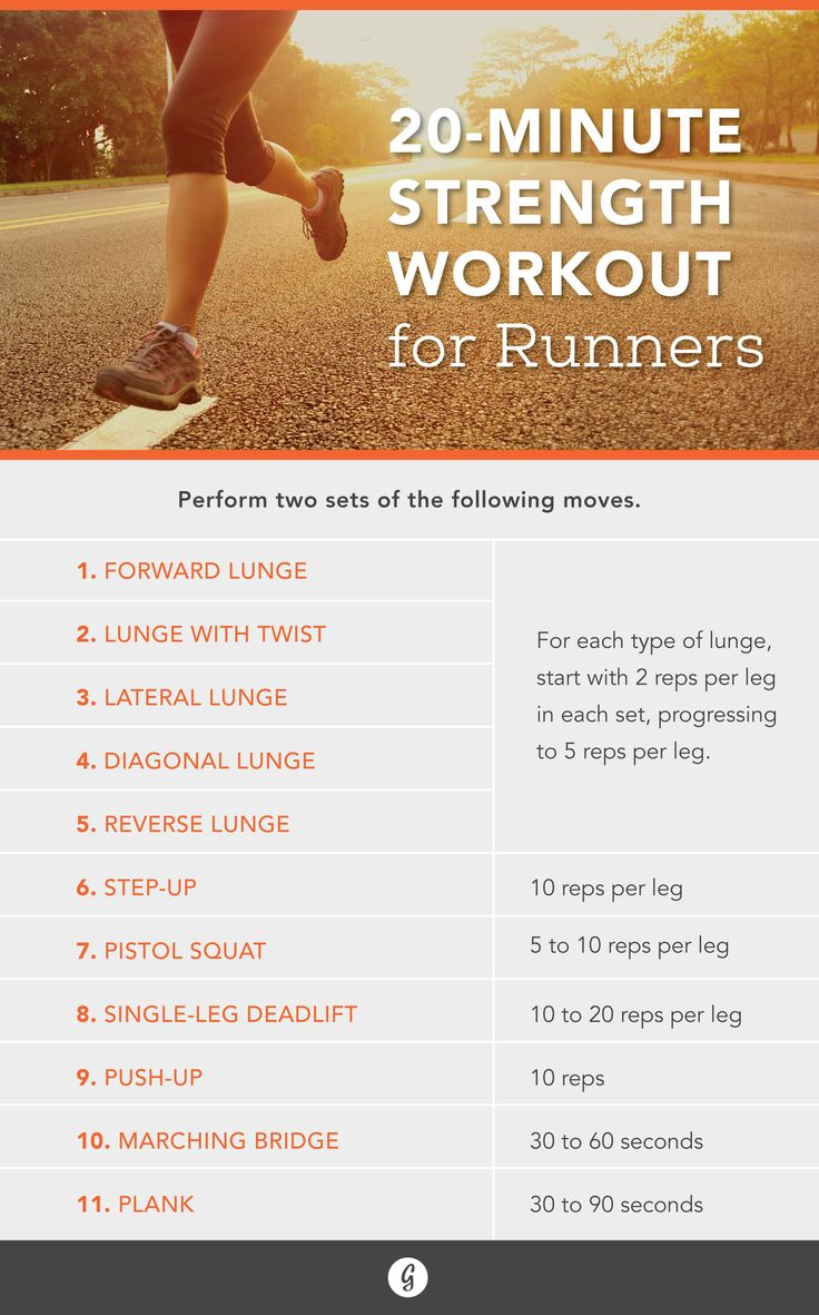 Strength Workout for Runners — Add these strength moves to your workout to up your running game. #running #workout #strength #greatist