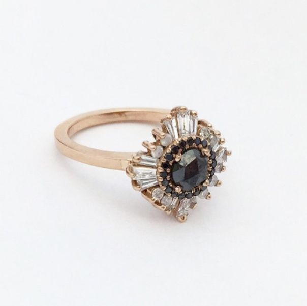 Black Diamonds & Rose Gold http://thelane.com/brands-we-love/heidi-gibson