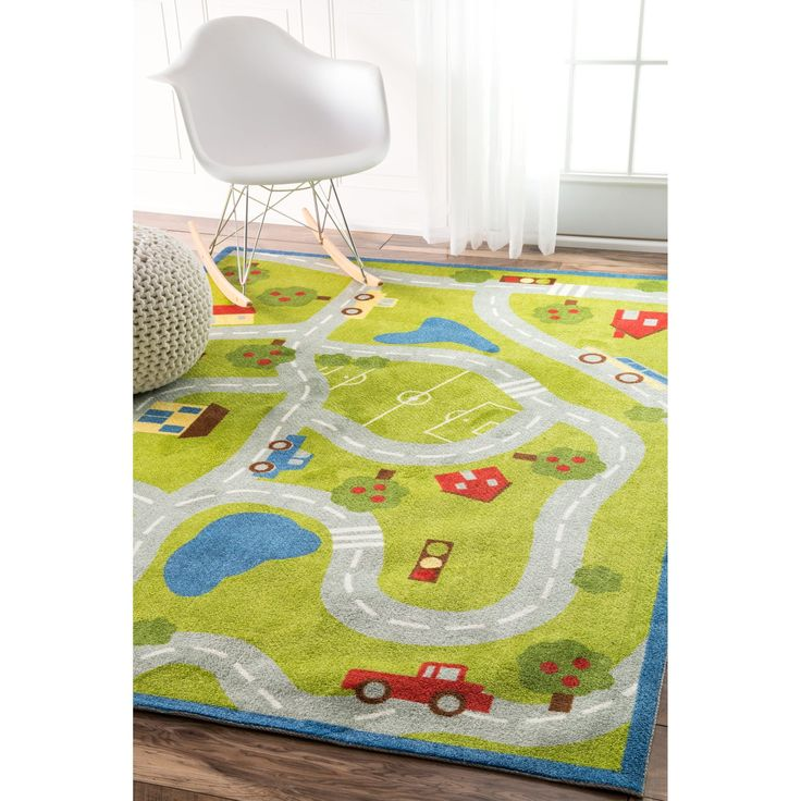 nuLOOM Contemporary Kids Country Road Trip Rug